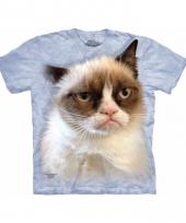 Dieren shirts grumpy cat volwassenen