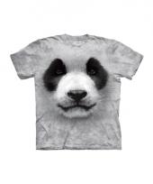Dieren shirts panda zwart wit