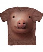 Dieren shirts varkenskop
