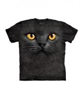 Dieren shirts zwarte kat vowassenen
