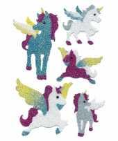 Dieren stickers eenhoorn 1 stuks