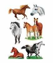 Dieren stickers paarden rassen 3 stuks