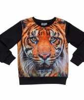 Dieren trui met fotoprint van tijger voor kinderen