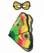 Dieren verkleedset vlinder gekleurd