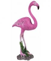 Dierenbeeld flamingo 32 cm