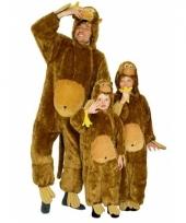 Dierenkostuum aap pluche voor jongens en meiden