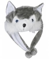 Dierenmuts wolfje voor kinderen
