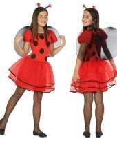 Dierenpak lieveheersbeestje verkleed jurk jurkje voor meisjes