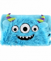 Dierenthema fleece omslagdoek monster