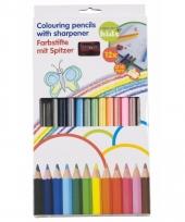Dikke kleurpotloden 10mm inclusief puntenslijper