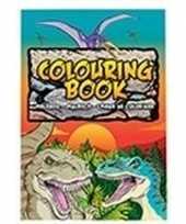 Dino dinosaurussen thema a4 kleurboek tekenboek 24 paginas