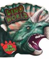 Dinosaurus kleur en stickerboekje