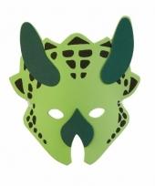 Dinosaurus masker groen 18cm