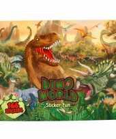 Dinosaurus stickerboek met 166 stickers voor jongens