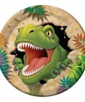 Dinosaurus thema bordjes 8 stuks