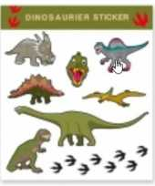 Dinosaurus thema tattoo stickers 8 stuks