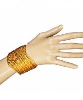 Disco armband met gouden pailletten