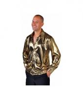 Disco blouse goud voor heren