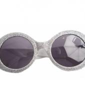 Disco bril zilver voor volwassenen