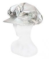 Disco cap zilver dames