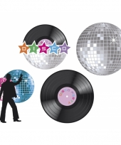 Disco decoratie set van 4 stuks