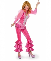 Disco outfit voor dames roze