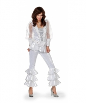 Disco outfit voor dames wit 10037020