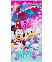 Disney badlaken strandlaken minnie en katrien 70 x 140 cm