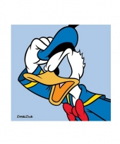 Disney donald duck poster van karton 40 x 40 cm