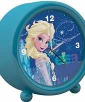 Disney frozen kinder wekker klokje blauw 11 5 x 12 cm