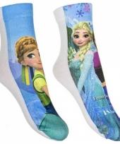 Disney frozen sokken 2 pak blauw