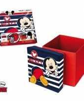 Disney mickey mouse bewaardoos poef meubeltje voor kinderen