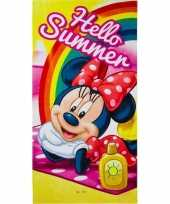 Disney minnie mouse summer badlaken strandlaken 70 x 140 cm