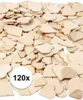 Diy houten hartjes 120 stuks