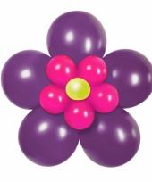 Doe het zelf ballon kit bloem paars roze
