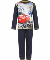 Donker blauwe kinder pyjama cars