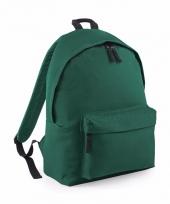 Donker groen gymtas rugzak voor kinderen