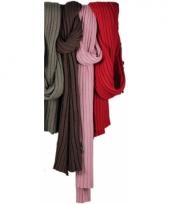 Donker roze sjaal dubbel gebreid 176 cm