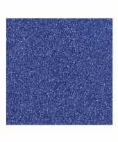 Donkerblauw knutsel papier glitter