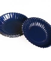 Donkerblauwe kartonnen bakjes 16 cm