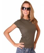 Donkergroen bella shirt voor dames