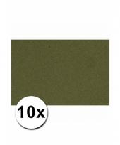 Donkergroen knutsel karton a4 10 stuks