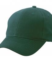 Donkergroene baseball cap van katoen