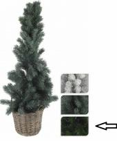 Donkergroene kunst kerstboom in mand 80 cm