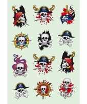 Doodshoofd stickers 3 stuks