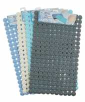 Douche badmat noppen licht blauw rechthoekig 77 cm