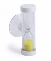 Douche zandloper van 2 minuten geel