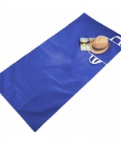 Draagbare strandmat blauw