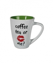 Drinkbeker groen coffee tea or me