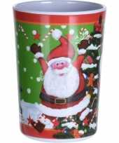 Drinkbeker kerstman print 300 ml